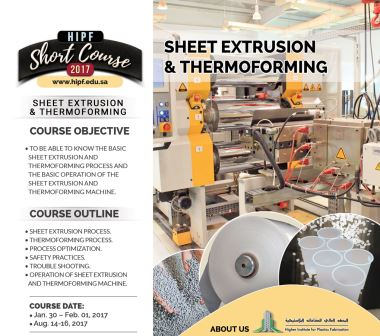 Sheet Extrusion & Thermoforming