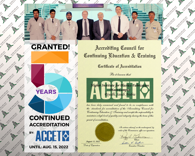 ACCET Reaccreditation granted ( 5 years) to HIPF
